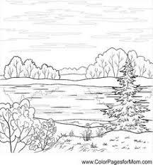 landscape coloring page 3