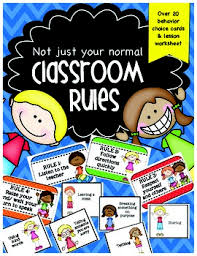 Classroom Rules Kindergarten Clip Chart Compatible