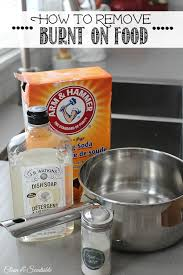 great tips to remove burnt on food from stainless steel pots works on cookie sheets