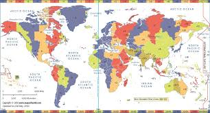 World Time Zone Map World Time Zones Time Zone Map World