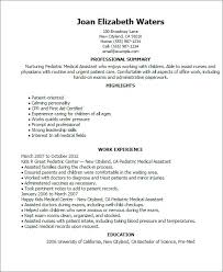 Medical Assistant Resume Examples Magnificent Pediatric Medical Assistant Resume Example Swarnimabharathorg