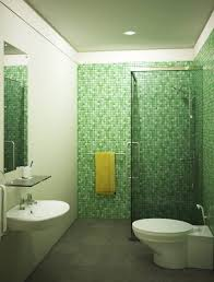 Mosaic Tiles Green Bathroom
