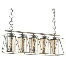 chandelier metal frame mouth blown glass cylinders are captured within the metal frame of the rectangular