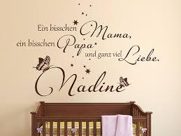 Wandtattoo Ganz Viel Liebe Mit Babyname Wandtattoosde