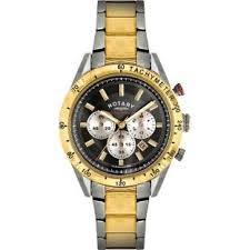 turno rotary men s two tone chrono bracelet watch amazon co uk turno rotary men s two tone chrono bracelet watch