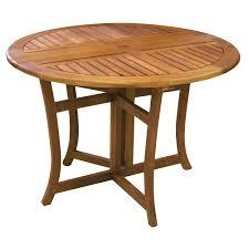 eucalyptus inch round folding deck table garden round wood patio table plans round wood patio table