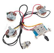 left handed electric guitar wiring harness kit 5 way switch 1v2t for strat parts