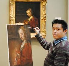 top artist customize custom oil painting service copy leonardo di serpiero da vinci painting