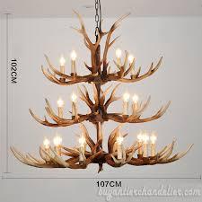 best 20 cast elk antler chandelier 3 tiers candelabra cascade rustic home decor pendant lighting fixtures