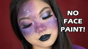easy galaxy makeup tutorial 2018 no face paint
