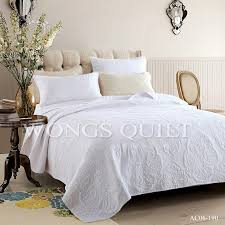 100% Cotton Queen Size Quilted Bedspread/ Coverlet Set New 3pcs ... & 100% Cotton Queen Size Quilted Bedspread/ Coverlet Set New 3pcs Super Soft  White Waterwash Quilts 230*250cm White-in Bedding Sets from Home & Garden  on ... Adamdwight.com
