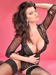 Busty brunette in lingerie