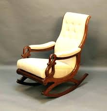 wooden rocking chair. Wood Rocking Chair Pads Leather Cushions And . Wooden