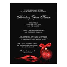 christmas open house flyer business holiday open house flyers programs zazzle