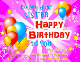 Happy Birthday Images For Sister With Quotes