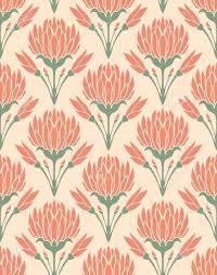 Achtergrond Met Bloemen Van Klaver Patroon In Pastel Kleuren