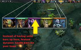 Idea] Health bars at top of screen-- simple but effective! - Dota2 Dev