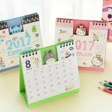 new 2018 lovely diy animals mini desktop paper calendars table calendar desk planner calendar 2017