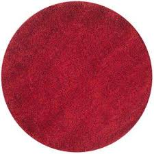 california red 4 ft x 4 ft round area rug