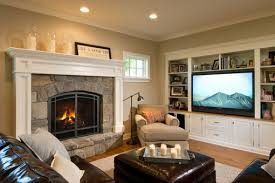 perfect layout for our living room large tv and fireplace in