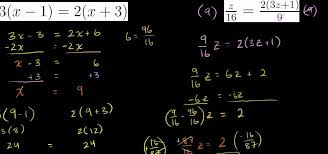 how to solve equations with algebraic