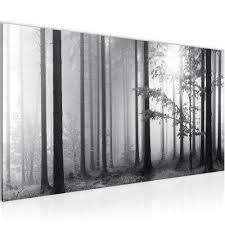 Details Zu Wandbilder Wald Schwarz Weiß Vlies Leinwand Bild Xxl Bilder Kunstdruck 007812p