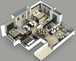 2 Bedroom House Plans 3d View Inspiring Home Design 2 Bedroom Beach House  Plans 3 For .