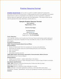 Resume Format For Freshers Free Download Latest New Hr Resume Format