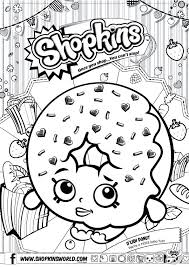 Coloring Pages Shopkin Coloring Pictures Pages Free Page Shopkin
