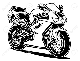 1300x985 sport motorcycle drawing isolated on white background royalty free