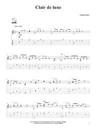 clair de lune sheet music guitar clair de lune sheet music direct