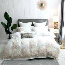 white king size bedding duvet cover navy blue gold embroidery luxury cotton royal set queen co