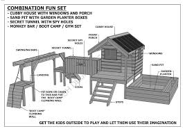 cubby play house sand pit tunnel play gym combo building plans v1