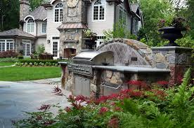 elegant stone granite and bluestone veneer outdoor built in grill ideas allendale nj