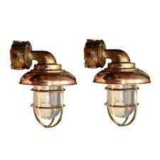 copper outdoor lighting lights set eight brass nautical nz