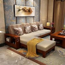 chinese living room furniture. all solid wood corners of princess fabric sofa modern new chinese combination living room furniture wholesale