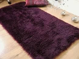 warm contemporary plum area rug