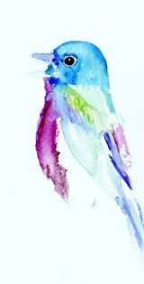 bird call watercolor painting by jessica buhman