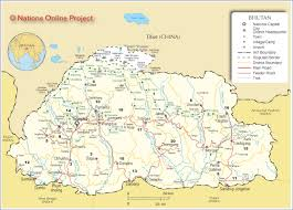 map of bhutan  nations online project