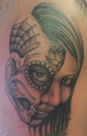 In Progress Cover Up Day Of The Dead Skull Headless Hands Custom