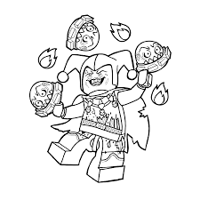 Small Picture Lego Nexo knights Jestro Coloring pages for kids