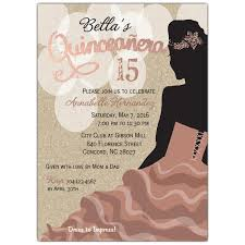 Quincenera Invitations Rose Silhouette Quinceanera Invitations