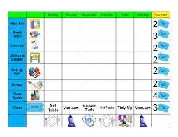 Free Printable Chore Behavior Charts For Kids Chore Chart