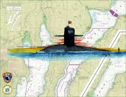 Paintings On Nautical Charts Details About The Uss Michigan Ssbn 727 Giclee Print Of Painting On Puget Sound Nautical Chart