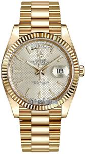 228238 silver diagonal index rolex day date 40mm yellow gold mens availability rolex day date 40mm yellow gold mens watch