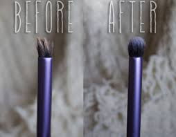 clean brush before after