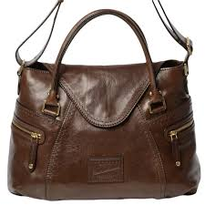 04634001 brown icons leather shoulder bag