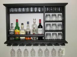 mini bar black stain 3x2 wall mounted wine rack wine rack liquor cabinet black mini bar home wrought