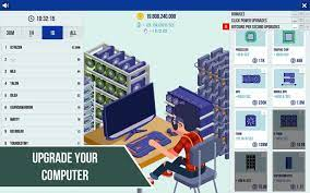 Hack lots of money in the new idle game bitcoin miner. Cryptocurrency Clicker Download