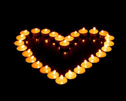 lit-candles-in-heart-shape–romantic-candle-light–photos-92789 | Coming Home